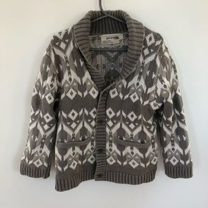 100% cotton grey and white cardigan size 5T vguc